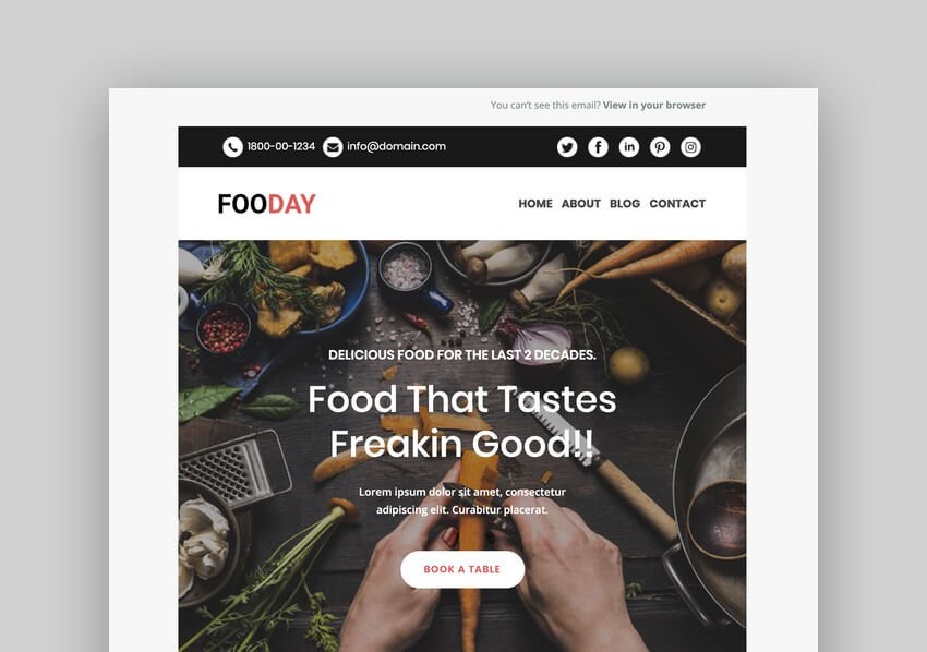 Fooday - Multipurpose Responsive Mailchimp Template
