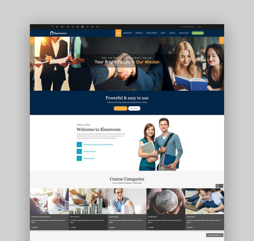 Klassroom - University Website Moodle Theme