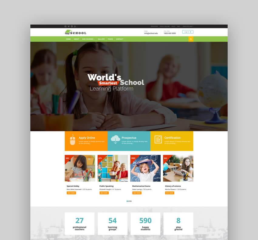 School - Exclusive Moodle Theme For University Websites