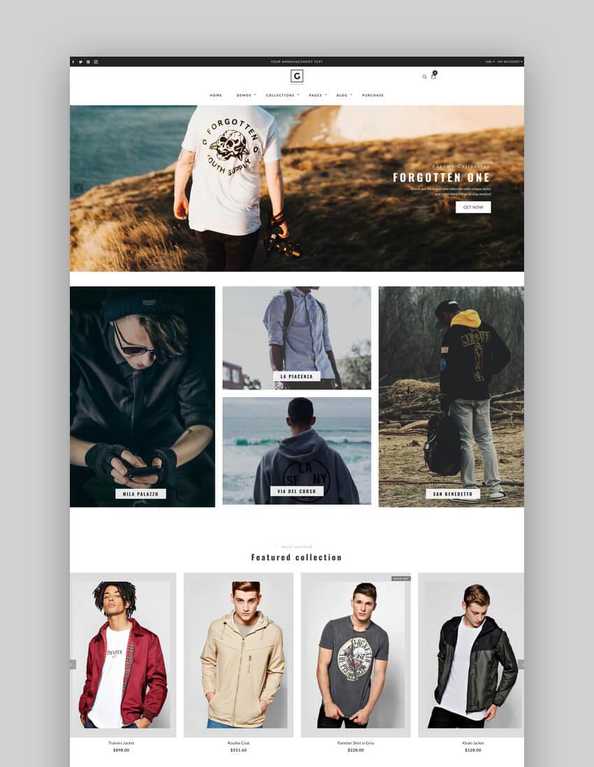 Gemini - Responsive Shopify AR Fashion Theme