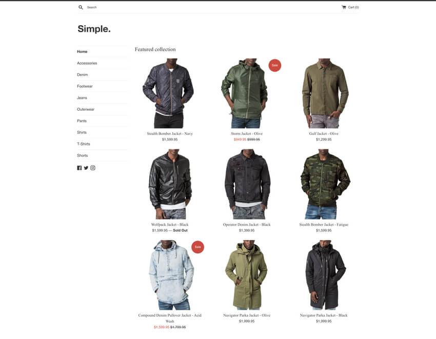 Simple Theme - Free Shopify Theme