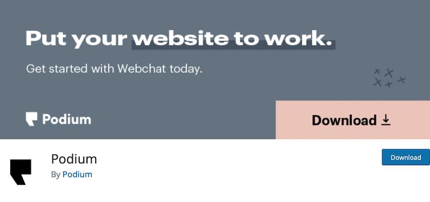 Podium WordPress plugin