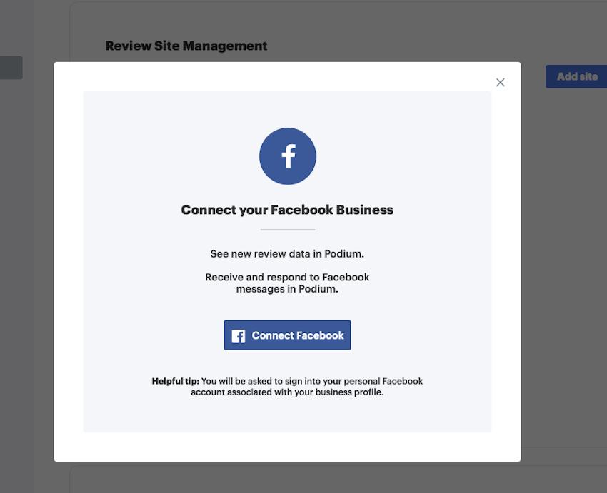 Confirm Facebook connection