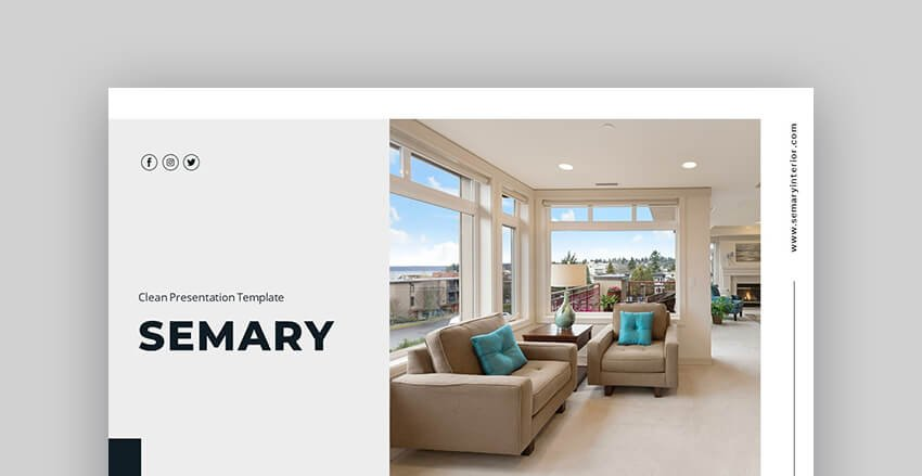 Semary Real Estate And Interior Design PowerPoint Template
