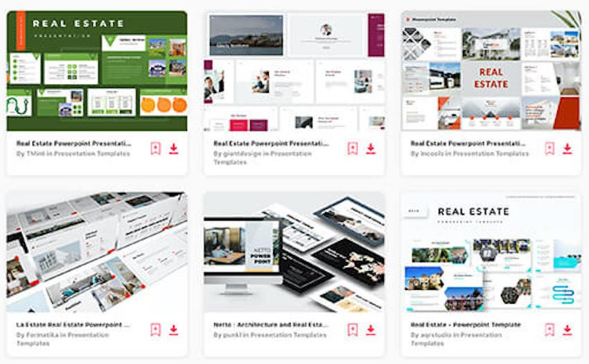 Real estate templates on Envato Elements