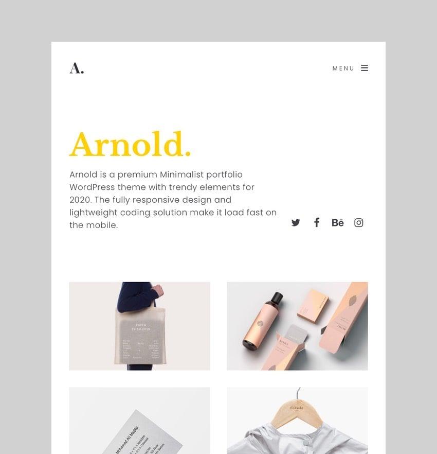 Arnold - Minimal Portfolio WordPress Theme
