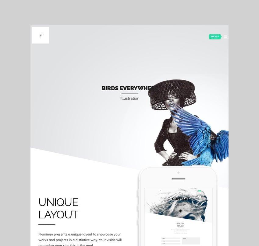 Flamingo - Freelance Portfolio Theme for WordPress