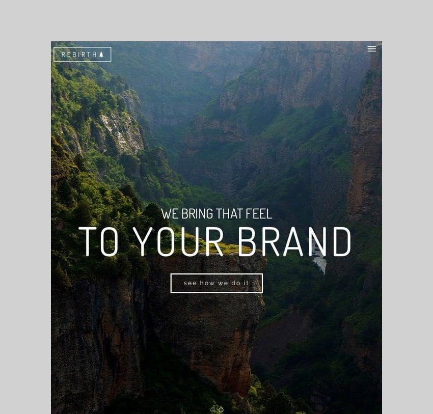 Rebirth - Freelance and Agency Portfolio WordPress Theme
