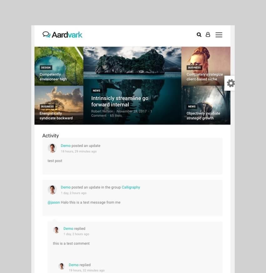 Aardvark - Community Membership and BuddyPress Theme