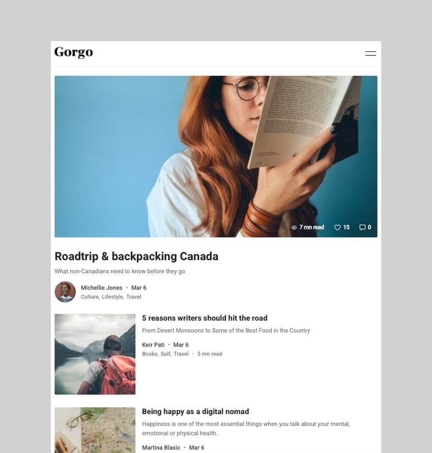 Gorgo - Community BuddyPress Theme for Writers and Readers