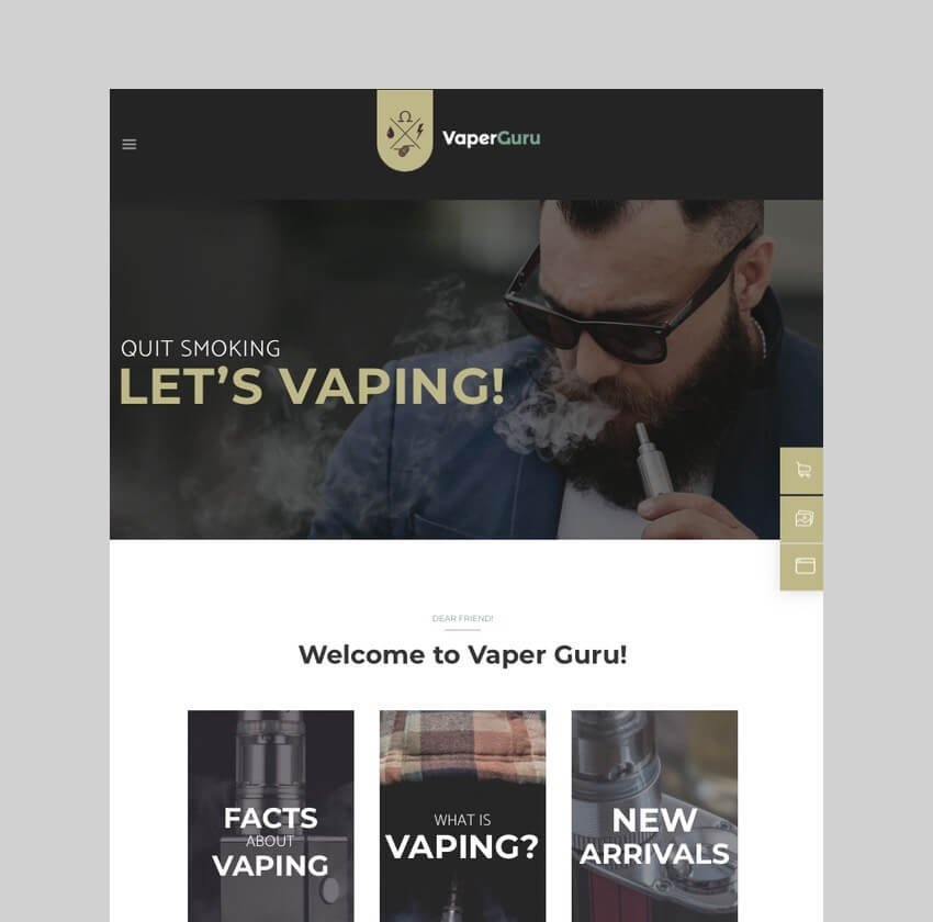 VaperGuru - Vapers Community Store Theme