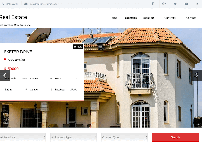 Real Estate Lite - Simple Property Site Theme