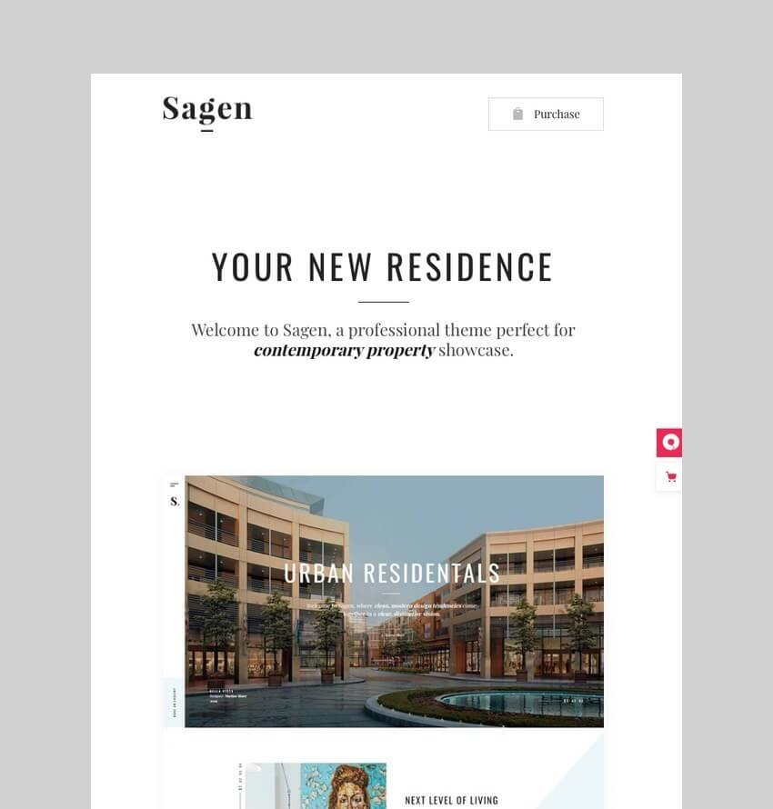 Sagen - WordPress Theme for SIngle Properties