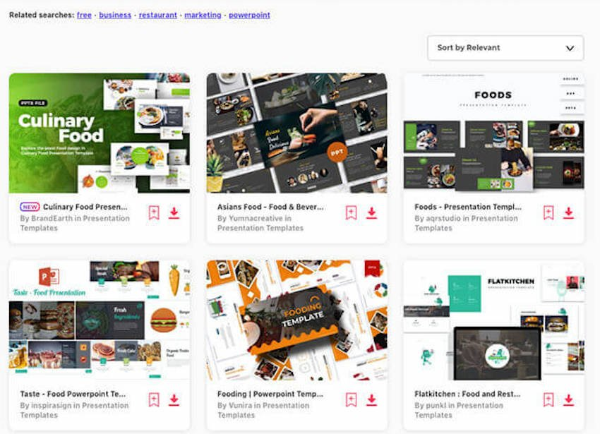 Food PPT templates on Envato Elements