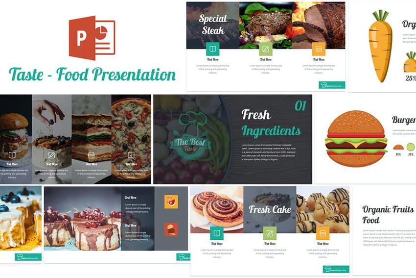 Taste Food PowerPoint Template