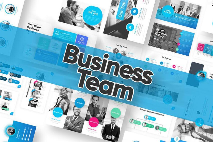 Business Team PowerPoint Template