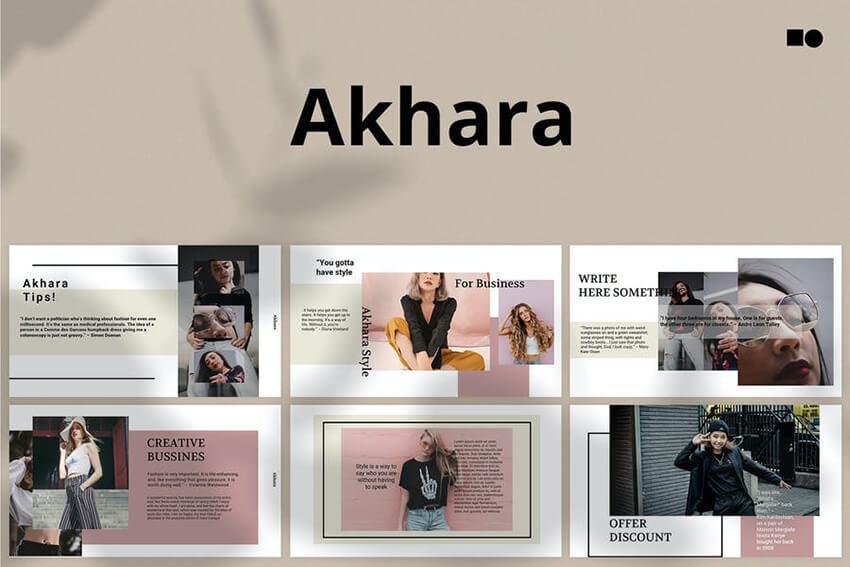 Akhara PPT template