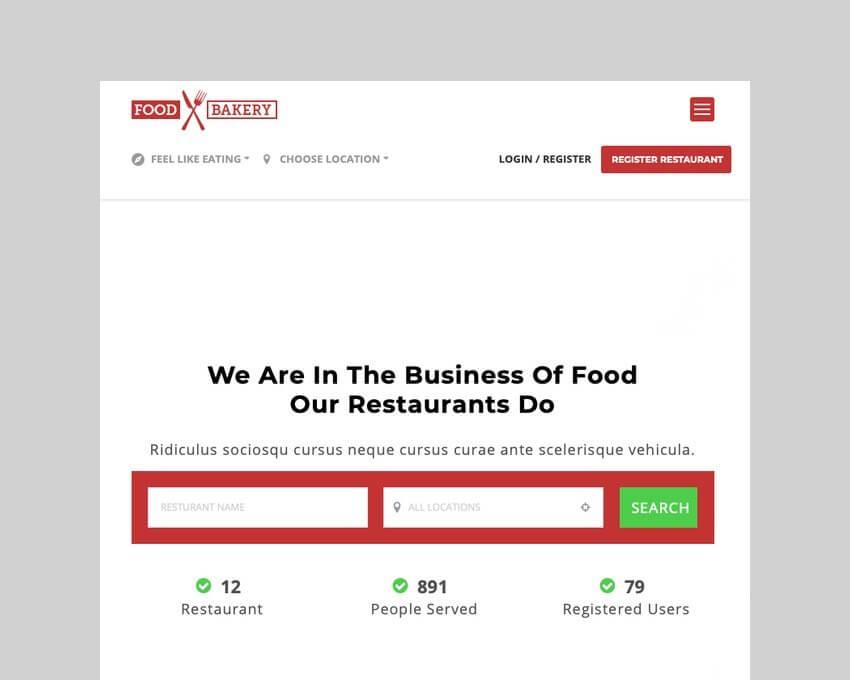 FoodBakery food delivery WordPress theme