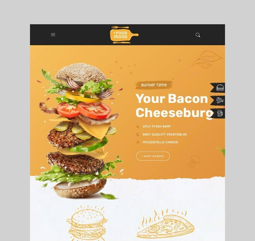 Foodmood cafe and delivery WordPress theme