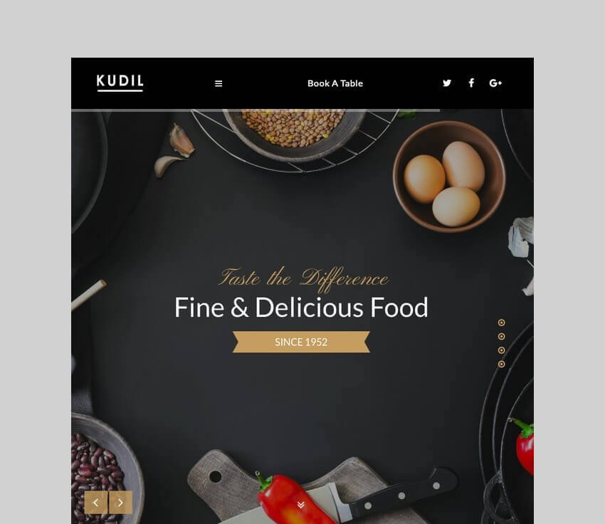 Kudil restaurant and food delivery wordpress theme