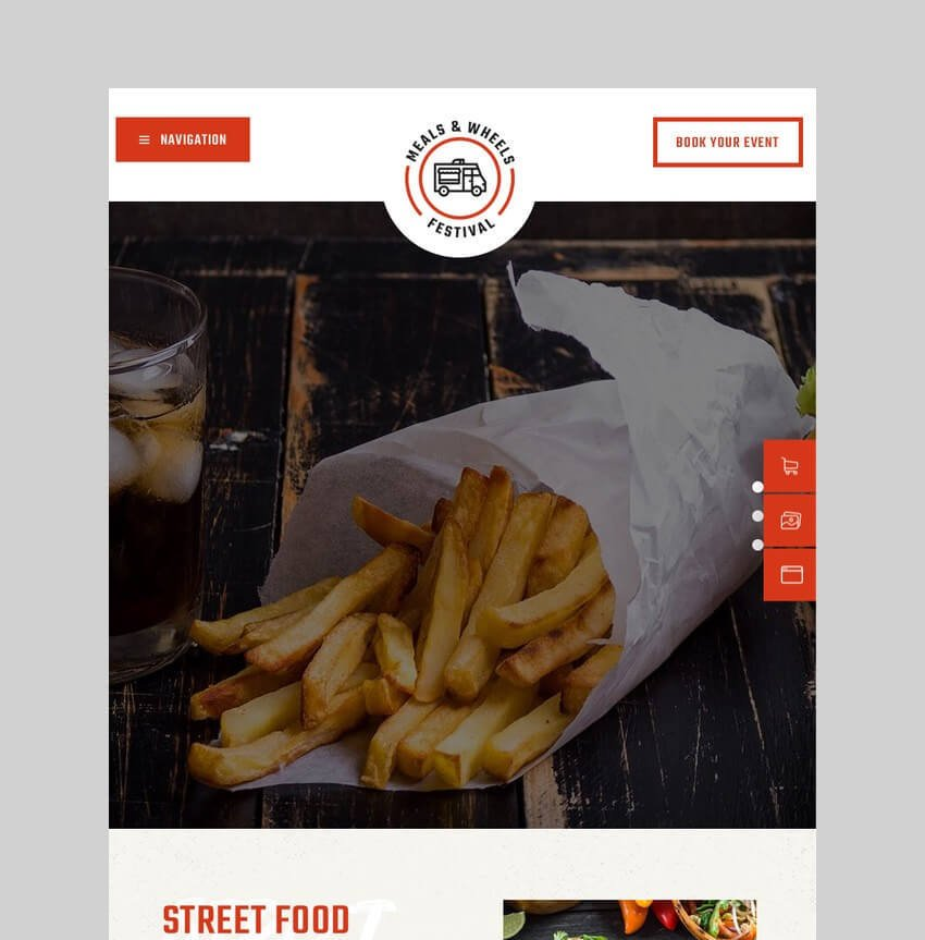 Meals and Wheels fast food WordPress theme