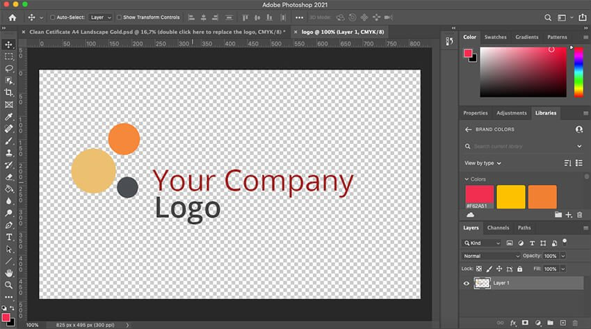 Adding a custom logo