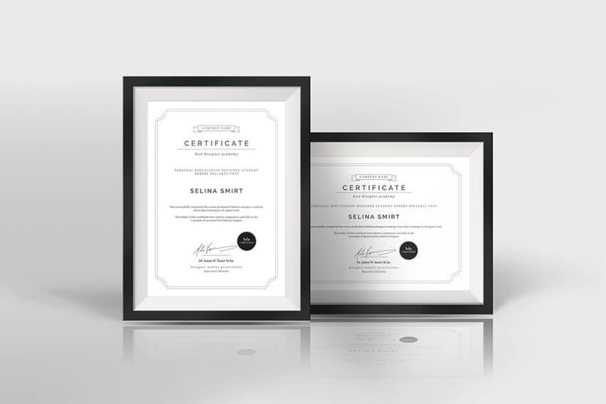 Clean and simple certificate design