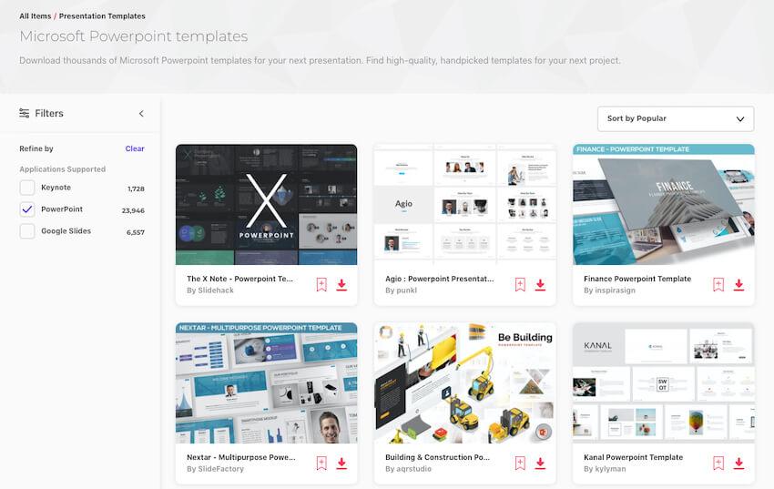Envato Elements - PPT templates