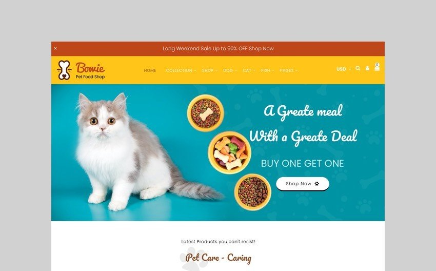 Bowie - Pets, Birds, and Dogs Shopify Theme