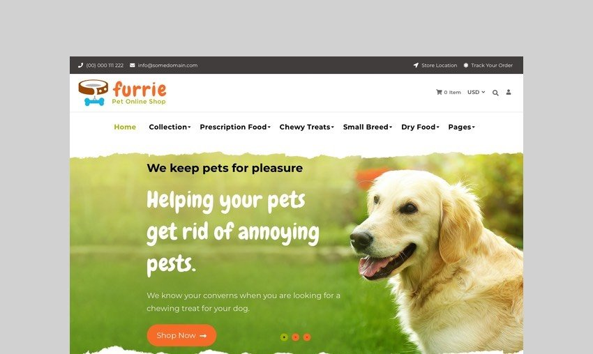 Furrie - Shopify Pet Store
