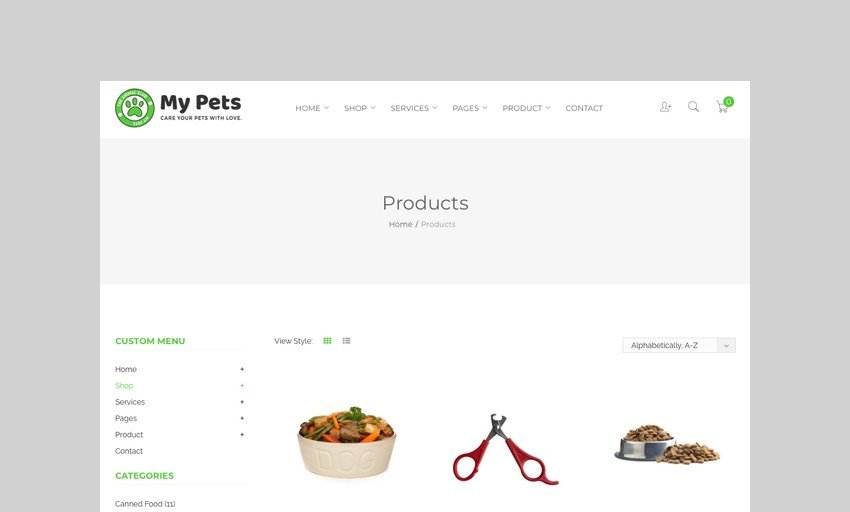 My Pets pet supply shopify theme