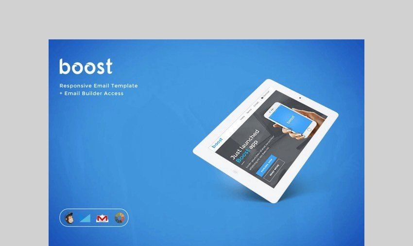Boost - App Promotional E-mail + Builder Access by eeemon