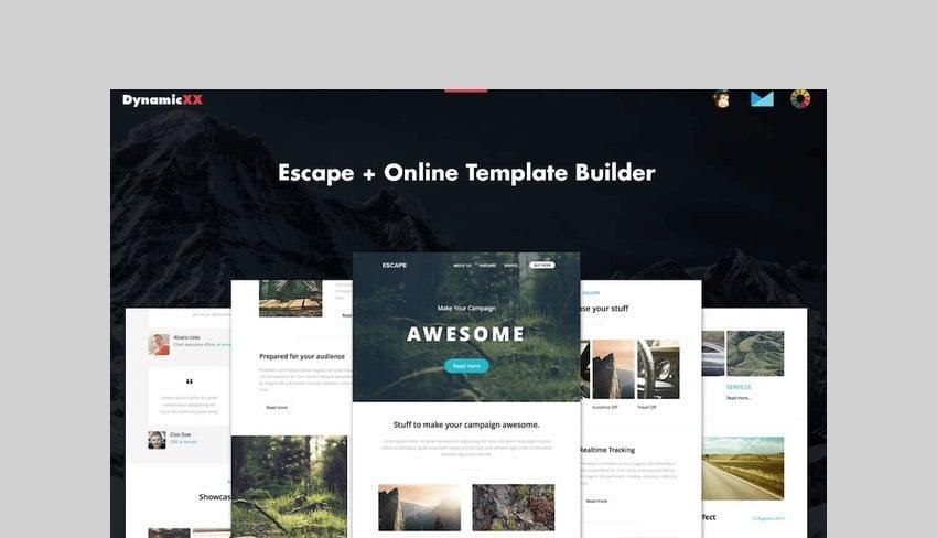 Escape - Responsive Email + Template Builder by DYNAMICXX