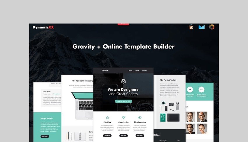 Gravity - Responsive Creative Email + Builder