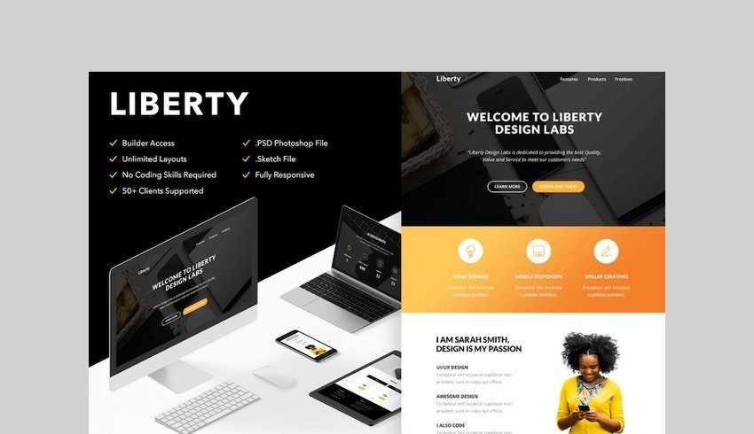 Liberty - Responsive Email + Themebuilder Access by RocketWay