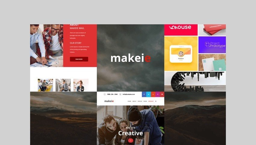 Makeie - 30+ Modules Email Templates by williamdavidoff