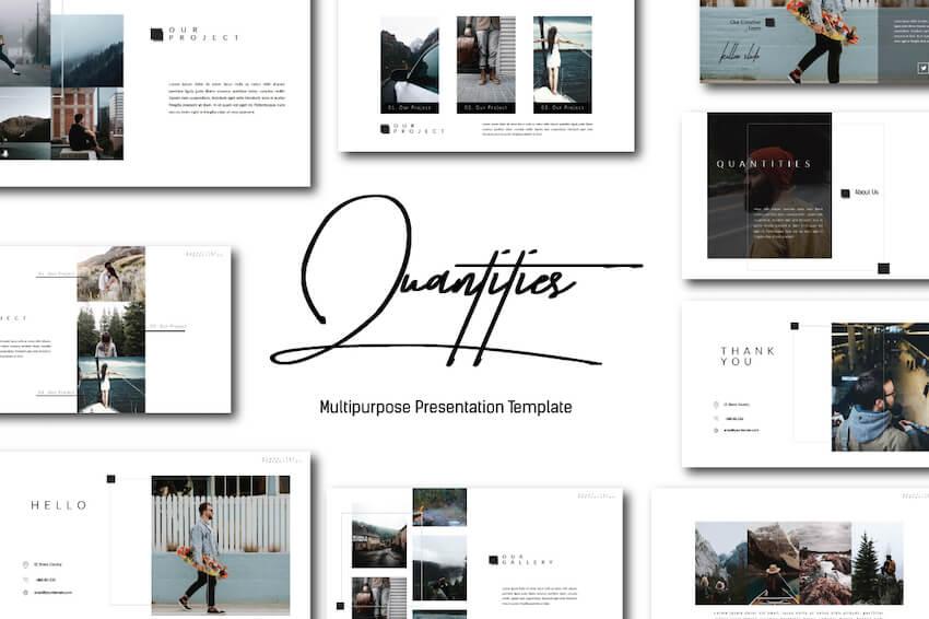 Quantities Elegant PowerPoint Template