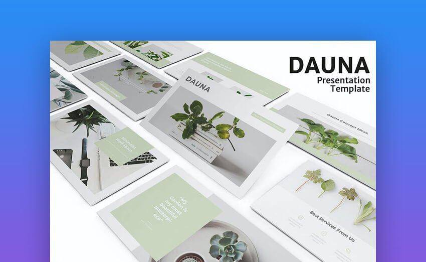 dauna minimalist presentation