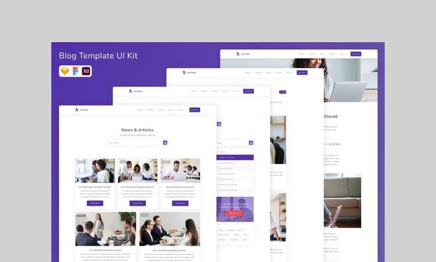 Blog Template UI Kit by betush
