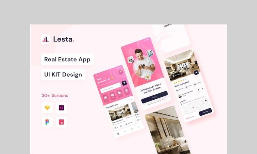 Lesta - Real Estate UI Kit by noansatudio