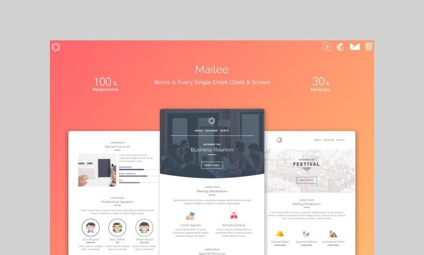 Mailee responsive multipurpose email template