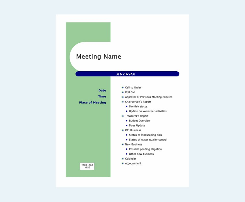 Agenda Capsules Design - Word