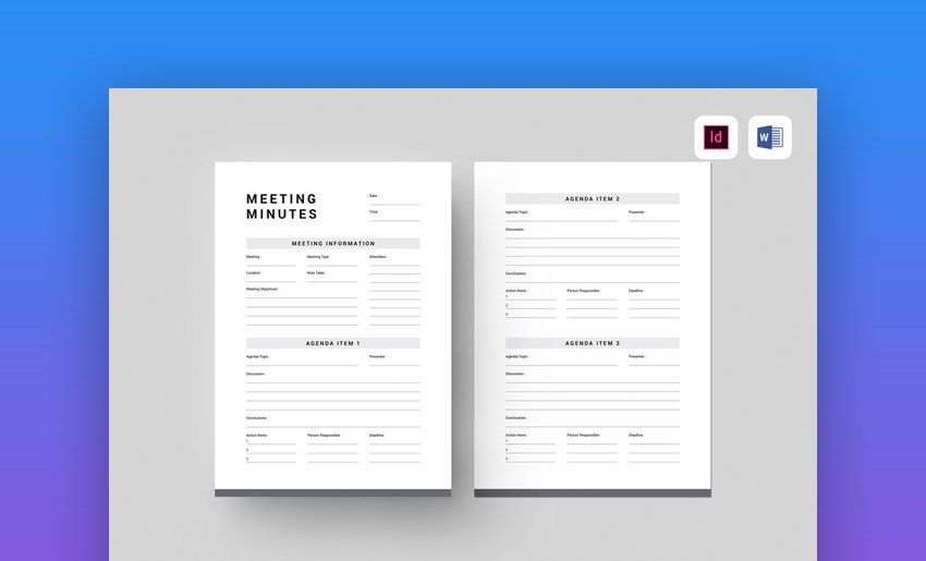 Meeting Minutes Word Template