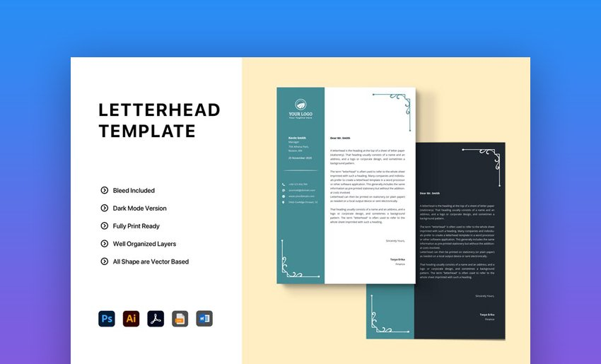 Microsoft Word Letterhead Template