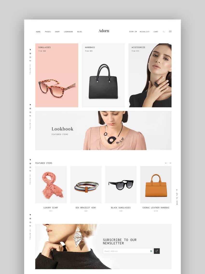 Adorn Minimal WooCommerce WordPress Theme