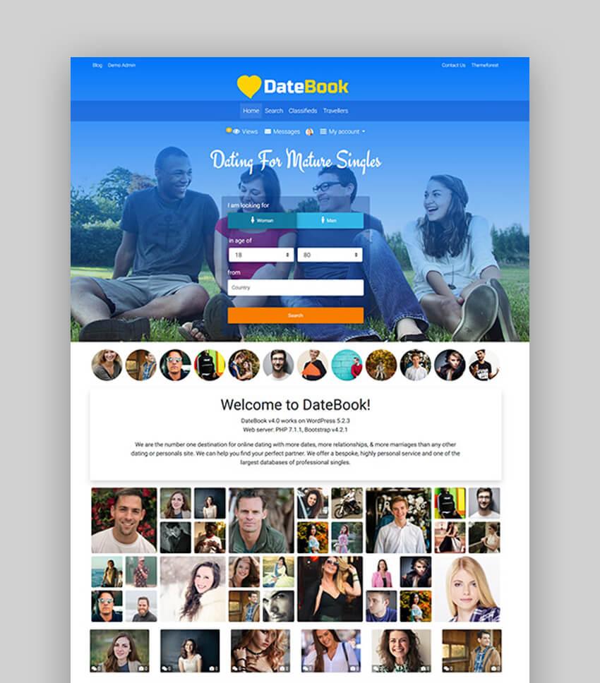DateBook Dating WordPress