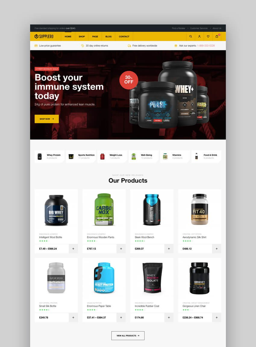 Supplero supplement WordPress theme