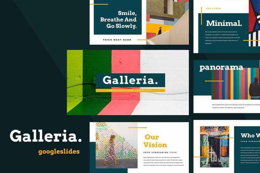 Galleria Google Slides template