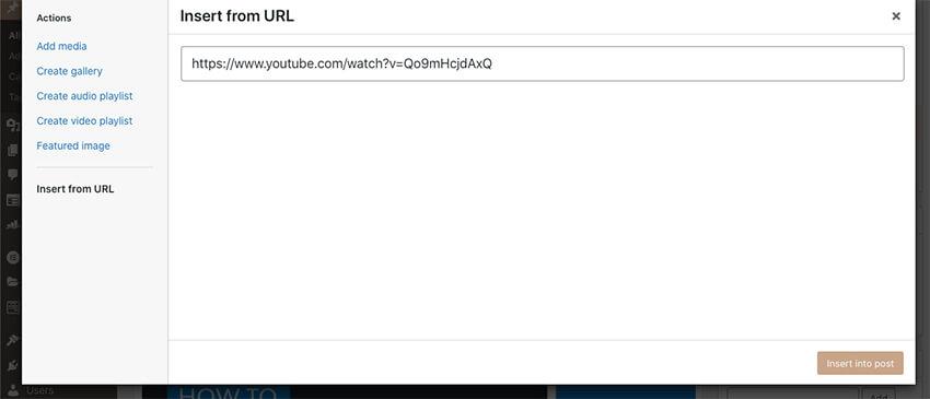 Adding a video to WordPress using a URL