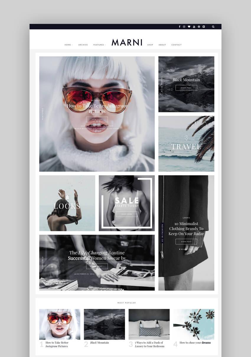 Marni – a WordPress Blog & Shop Theme